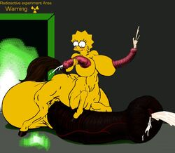 breasts centaur color exposed_breasts herm herm_only lisa_simpson nudity penis single single_herm skin the_simpsons yellow_skin