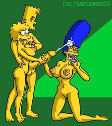 bart_simpson lisa_simpson marge_simpson odin3000 the_fear the_simpsons