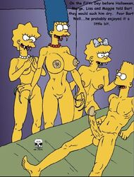 bart_simpson lisa_simpson maggie_simpson marge_simpson the_fear the_simpsons vampire