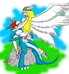 angewomon digimon flamedramon romantic straight vaginal_penetration