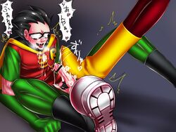 dc dcau dick_grayson human male male_only multiple_males penis robin speedy teen_titans yaoi