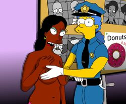 apu_nahasapeemapetilon homer_simpson manjula_nahasapeemapetilon marge_simpson the_simpsons