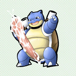 blastoise color front_view male male_only nintendo penis pokemon single single_male