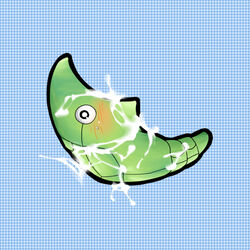 color metapod nintendo pokemon side_view single unknown_gender