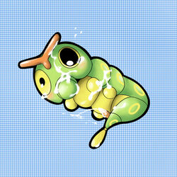 caterpie color cum male male_only nintendo nudity penis pokemon single single_male