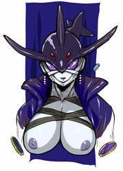denkishowgun inverted_nipples kamen_rider kamen_rider_ooo kamen_rider_ooo_(series) large_breasts medal mezool monster nipples