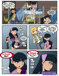 4girls black_hair blonde_hair camp_sherwood crossover fairly_oddparents juniper_lee trixie_tang