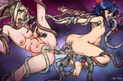 all_the_way_through anal barefeet double_anal feet fucked_silly himekishi_lilia injuotoko intestine_bulge mahou_shoujo_ai rape soles stomach_bulge tentacle toes vaginal_penetration
