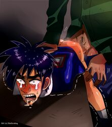 anal blush boy_rape drool itou_kaiji kaiji male rape tear ukai_zero yaoi