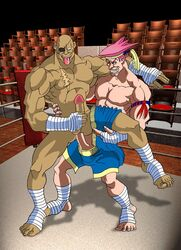 adon male male_only multiple_males sagat street_fighter tagme yaoi