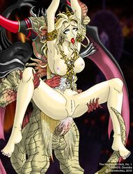 ahe_gao anal armlet armpits arms_up barefoot blonde_hair blue_eyes breasts breasts_out chaos_(dff) clothes cosmos_(dff) crown cum cum_in_ass cum_inside dachimotsu demon dissidia_final_fantasy female final_fantasy fucked_silly goddess hair lactation male penis pussy rape rolling_eyes sex spread_legs straight tiara tongue torn_clothes uncensored wardrobe_malfunction
