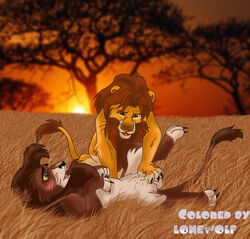 chris_mckinley collaboration cum disney feline feral fondling gay kovu lion lonewolf male masturbation orgasm penis raised_leg simba the_lion_king