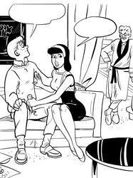 archie_andrews archie_comics caught couch handjob hiram_lodge public tagme veronica_lodge