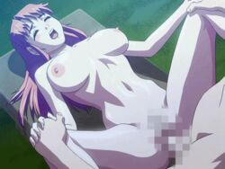 animated bench bounce bouncing_breasts breasts censored eyess_closed game_cg animated houya_yukitoshi interlocked_fingers long_hair naked nude on_back open_mouth pink_hair public public_sex reversible sex toned vaginal_penetration vaginal_penetration yoshimori_misaki