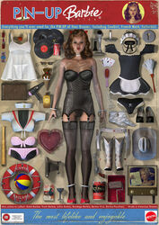 barbie blacksheepart breasts nude pin-up