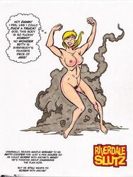 1girl archie archie_comics ass betty_cooper breasts female female_only human nude pussy reggie_mantle rule_63 solo tebra