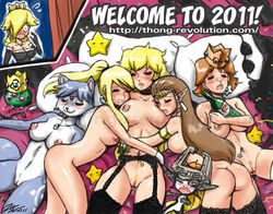 breasts color crossover female female_only human hylian interspecies john_joseco krystal metroid midna multiple_females naked party princess_daisy princess_peach princess_rosalina princess_zelda samus_aran star_fox super_mario_bros. the_legend_of_zelda twili twilight_princess yuri