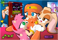 amy_rose cheese_the_chao cream_the_rabbit neoeclipse sonic_(series) tikal_the_echidna vanilla_the_rabbit