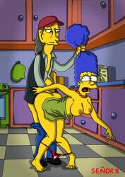 color cooter female human male marge_simpson senor_x straight the_simpsons