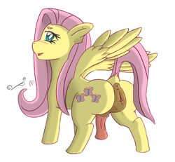animal_genitalia anus ass blush equine feral filthy_perfection fluttershy_(mlp) friendship_is_magic hair herm horsecock intersex looking_at_viewer mammal my_little_pony pegasus penis pink_hair presenting presenting_hindquarters pussy solo spread_legs spreading wings