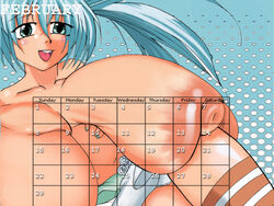 bakugan blue_hair green_eyess misaki_runo runo_misaki