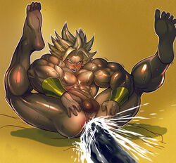barefoot broly dragon_ball dragon_ball_z feet male multiple_males tagme yaoi