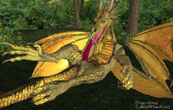 2007 3d_(artwork) autofellatio callsfire claws cum digital_media_(artwork) dragon erection forest licking looking_at_viewer lying male masturbation oral penis scales scalie solo tongue tongue_out tree western_dragon