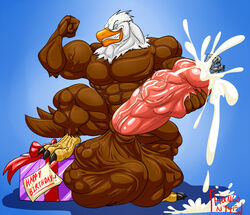 anthro avian big_cock big_penis claws cock cock_vore cum cum_drip cum_explosion cum_on_cock dick eagle ejaculation feet flexing furry furry_only huge_cock hungothenomster male muscles muscular no_humans orgasm penis smile smiling vore