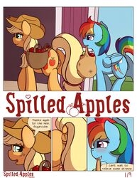 2014 anus applejack_(mlp) comic dialog english_text equine female feral friendship_is_magic horse mammal my_little_pony pegasus pussy rainbow_dash_(mlp) ratofdrawn text wings
