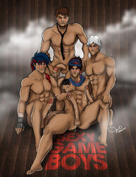 4boys crossover dante devil_may_cry gay hotel_dusk:_room_215 kyle_hyde prince prince_of_persia ryu street_fighter yaoi