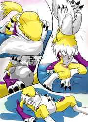 anthro color digimon female fur furry ozoneserpent renamon tagme vore
