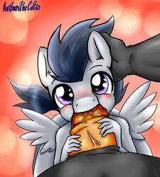 2014 anibaruthecat anthro anthrofied blush equine friendship_is_magic gay incest looking_at_viewer male mammal my_little_pony oral oral_sex pegasus penis rumble_(mlp) saliva sex solo thunderlane_(mlp) vein wings young