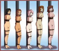 avatar_the_last_airbender azula bondage crossover female female_only human katara multiple_females naruto sakura_haruno tagme tied_up yu-gi-oh! zeo-nell