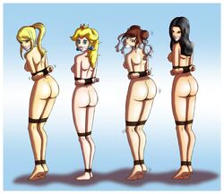 avatar_the_last_airbender azula bondage chun-li crossover metroid princess_peach samus_aran street_fighter super_mario_bros. tied_up zeo-nell