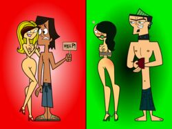 ball_gag bondage breasts duncan flashlight237 noah nude pussy total_drama_island