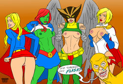 dc hawkgirl miss_martian power_girl supergirl the_flash zoom