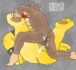 2017 3_toes 4_fingers anal anal_sex anus anvil_position ass balls banjo-kazooie banjo_(banjo-kazooie) bear beige_penis beige_scales bowser bowserboy101 bracelet brown_balls brown_fur crossover cum cum_from_ass cum_in_ass cum_inside cum_on_anus cum_on_butt cum_on_penis cum_on_tail digital_media_(artwork) duo foot_grab fur green_scales hair interspecies jewelry koopa legs_up male male/male mammal mario_bros multicolored_scales nintendo penetration penis red_hair scales scalie sex short_tail size_difference small_dom_big_sub spiked_bracelet spikes tan_fur toes video_games yellow_scales