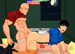 2boys artist_request asian augustus_black doggy_style gay interracial jackie_chan jackie_chan_adventures male male_only tagme yaoi