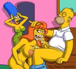 color female homer_simpson human male marge_simpson mindy_simmons odin3000 straight the_fear the_simpsons