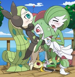 A female gardevoir from pokemon is having sex videos