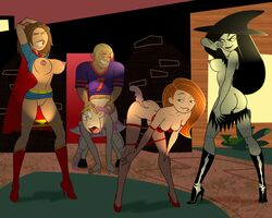 bonnie_rockwaller brick_flagg gagala kim_possible kimberly_ann_possible ron_stoppable rufus shego