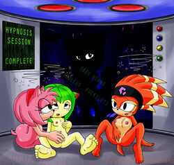 amy_rose anthro canine cosmo_the_seedrian echidna feet female female_only femsub fingering fiona_fox firemario86 fox fur hedgehog hypnosis indoors interspecies mammal masturbation mind_control monotreme multiple_females multiple_subs seedrian shade_the_echidna sitting sonic_(series) sonic_the_hedgehog sonic_x tagme yuri