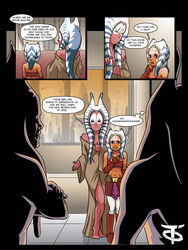 2girls ahsoka_tano clone_wars comic offworldtrooper shaak_ti star_wars togruta